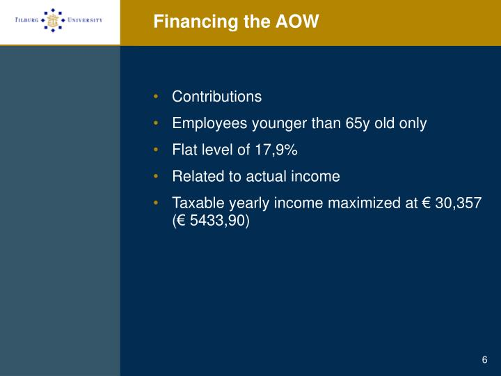 Financing the AOW