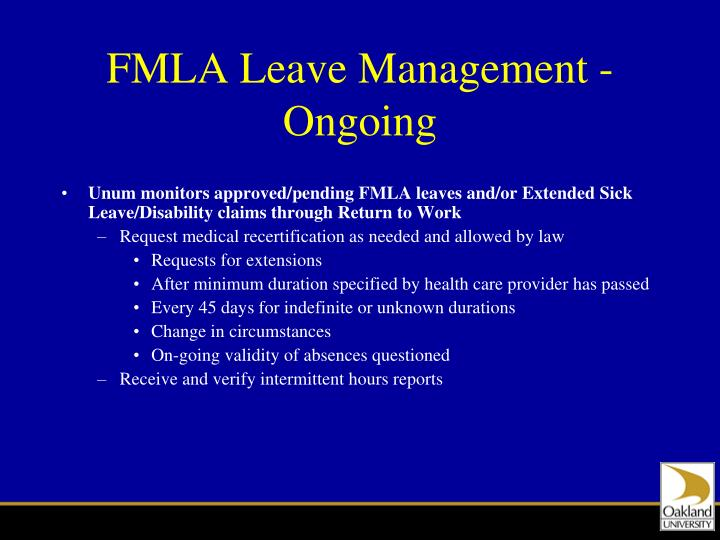 FMLA Leave Management - Ongoing
