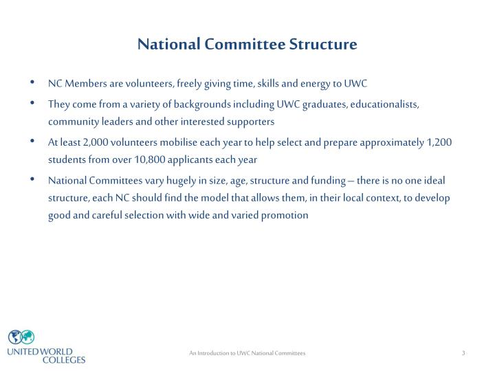 National committee structure