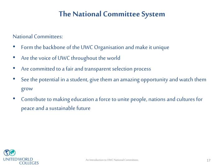 The National Committee System