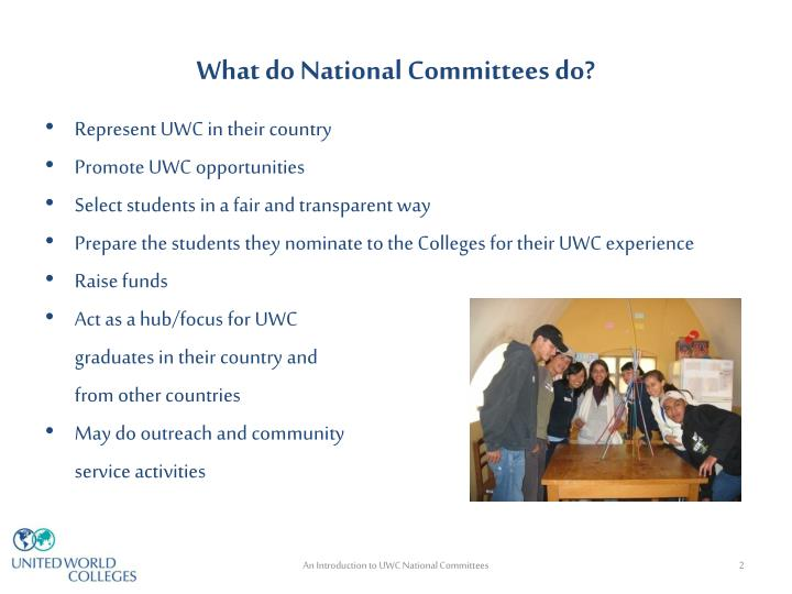 What do national committees do