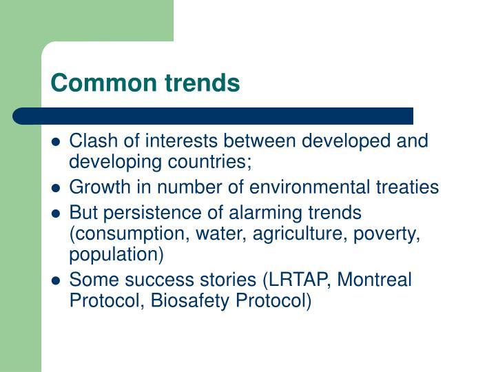 Common trends
