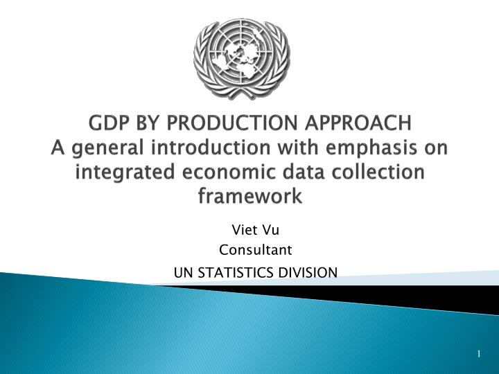 GDP BY PRODUCTION APPROACH