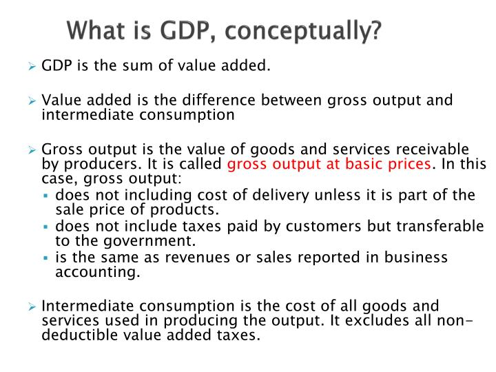 What is GDP, conceptually?
