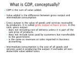 what is gdp conceptually