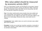 why value added should be measured by economic activity isic