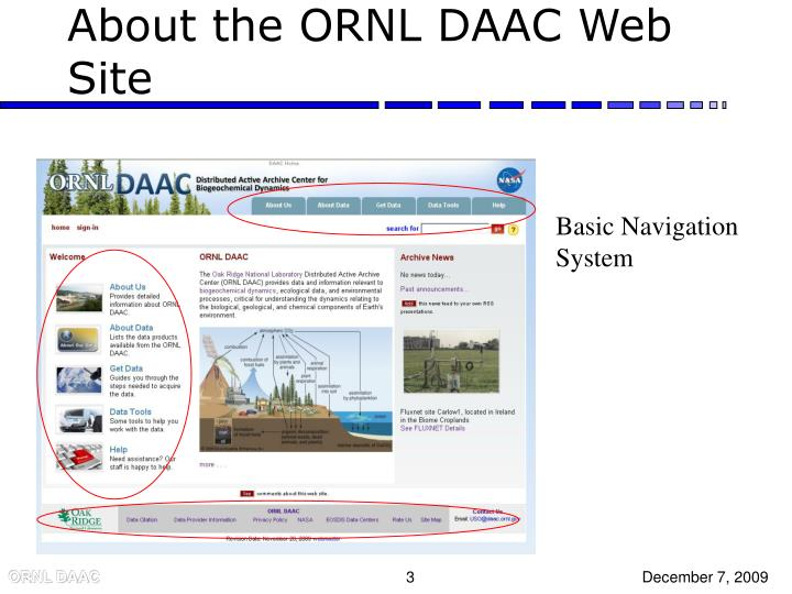 About the ORNL DAAC Web Site