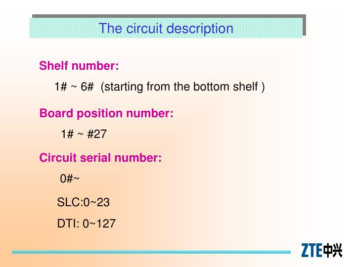 The circuit description