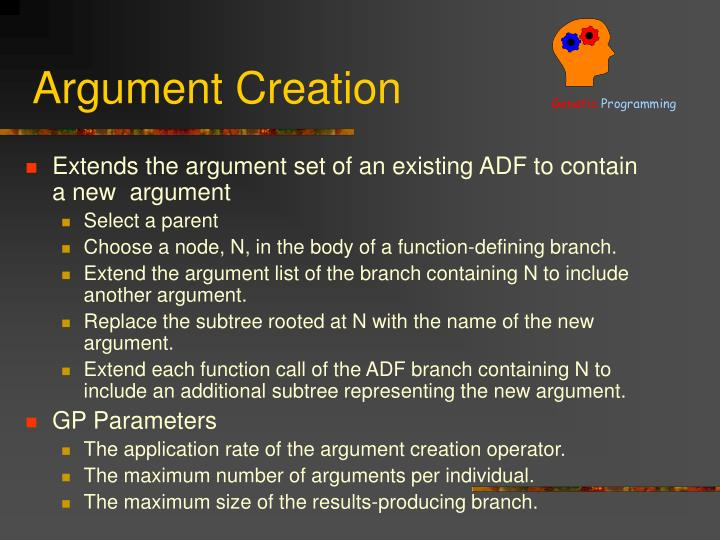 Argument Creation