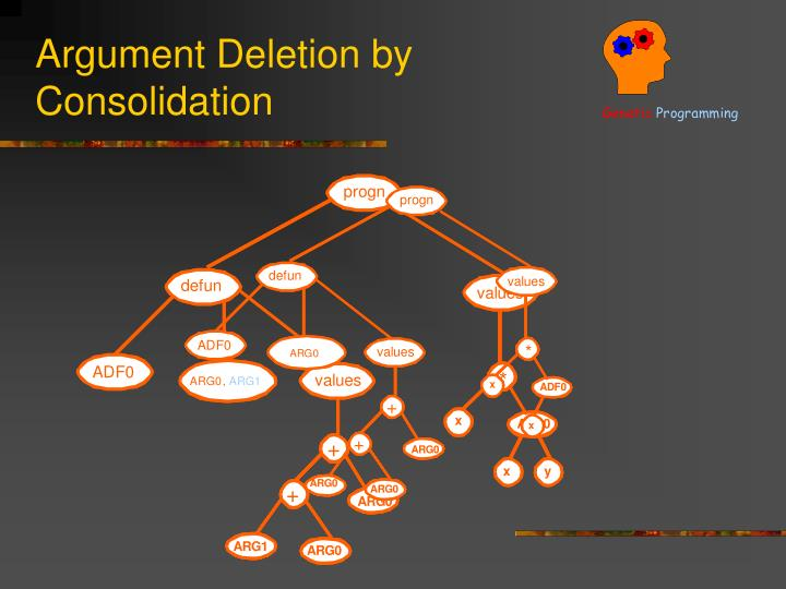 Argument Deletion by Consolidation