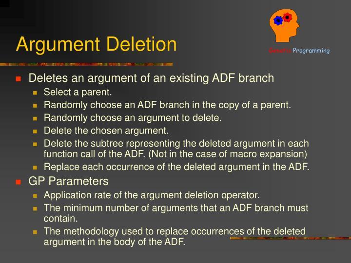Argument Deletion
