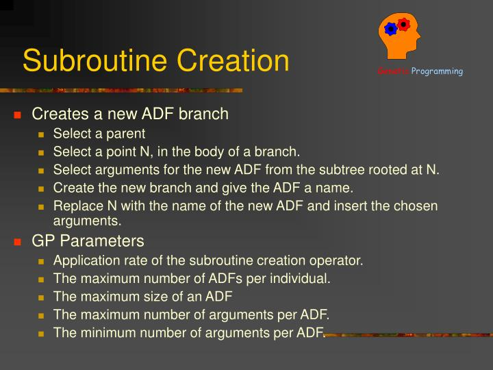 Subroutine Creation