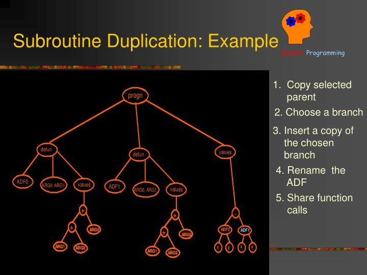 Subroutine Duplication: Example