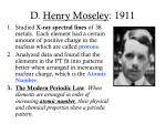 d henry moseley 1911