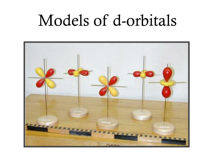 Models of d-orbitals