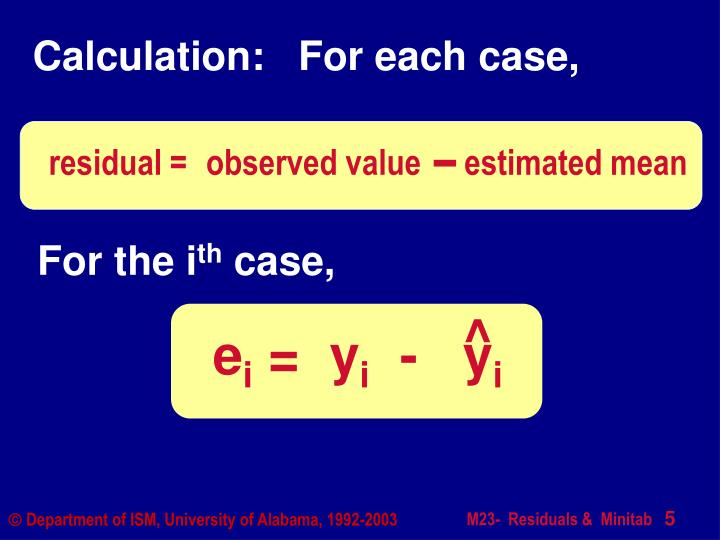 Calculation:   For each case,