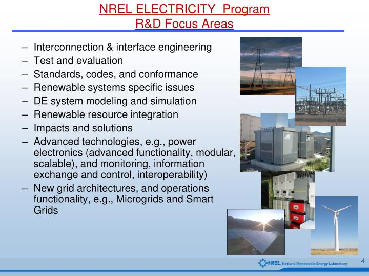 NREL ELECTRICITY  Program