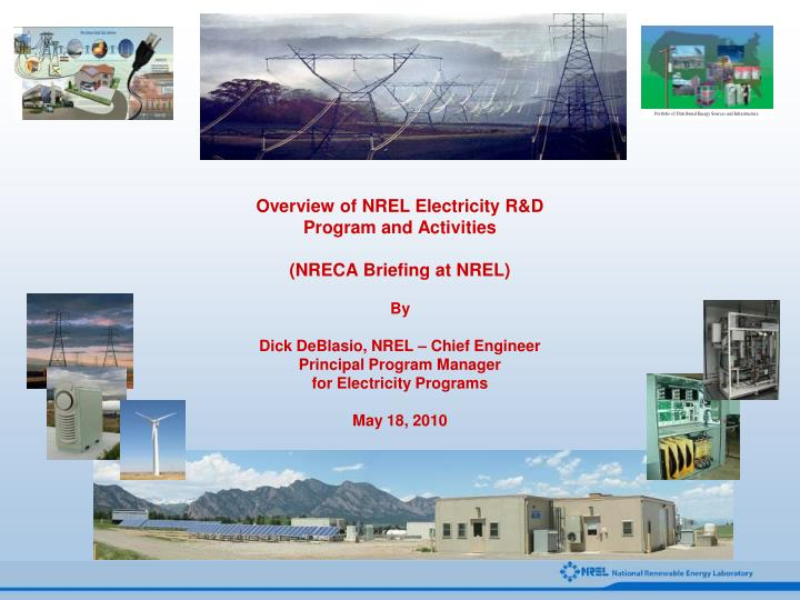 Overview of NREL Electricity R&D