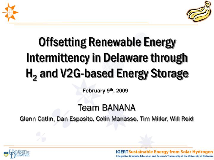 Offsetting Renewable Energy Intermittency in Delaware through
