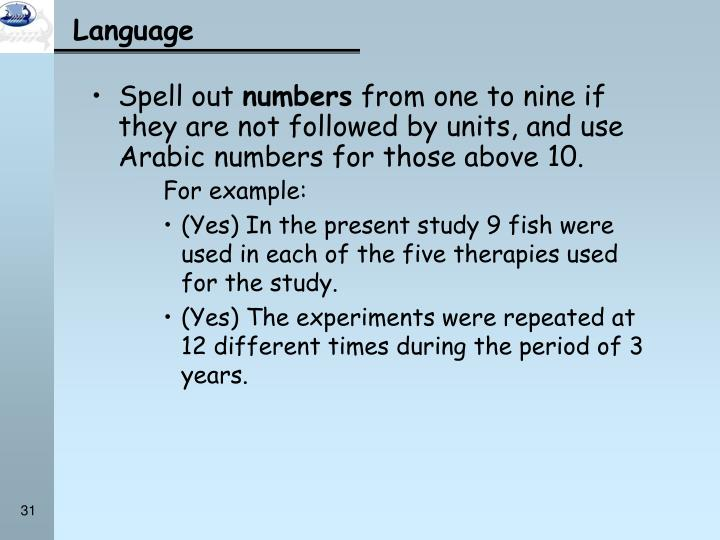 Spell out