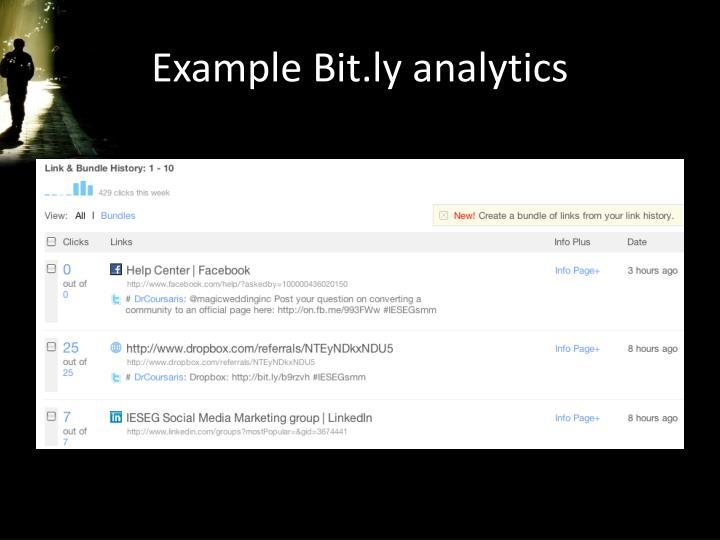 Example Bit.ly analytics