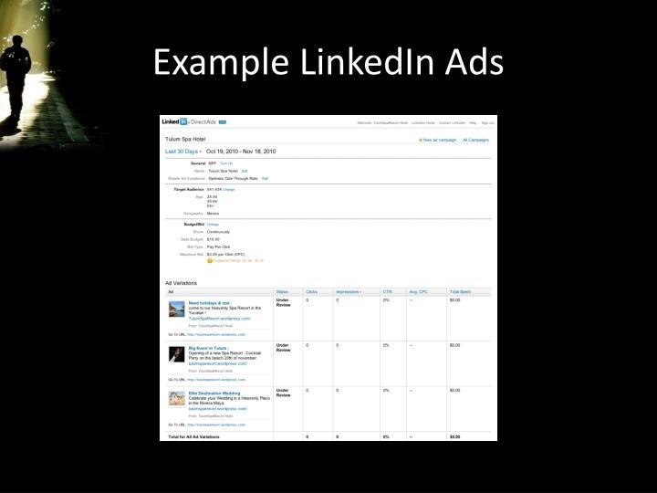 Example LinkedIn Ads