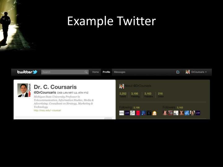Example Twitter