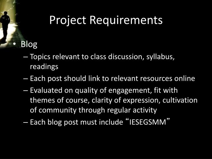 Project Requirements