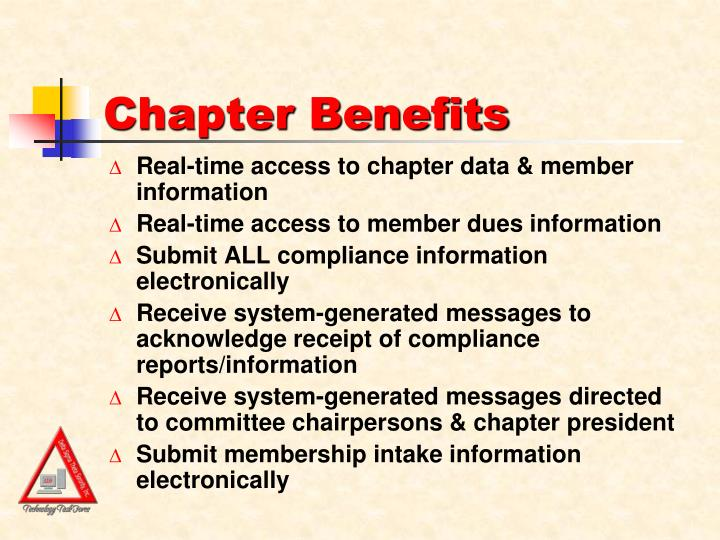 Chapter Benefits
