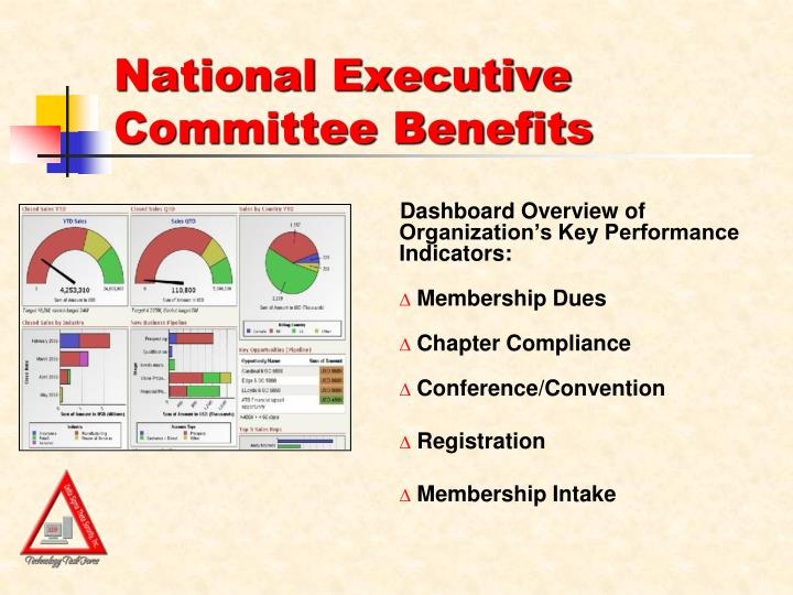 Dashboard Overview of Organization's Key Performance Indicators: