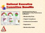 national executive committee benefits