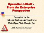 operation liftoff from an enterprise perspective