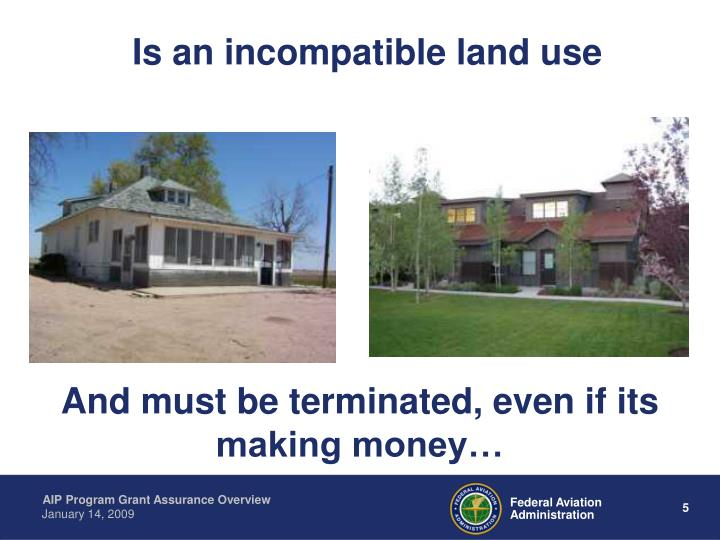 Is an incompatible land use