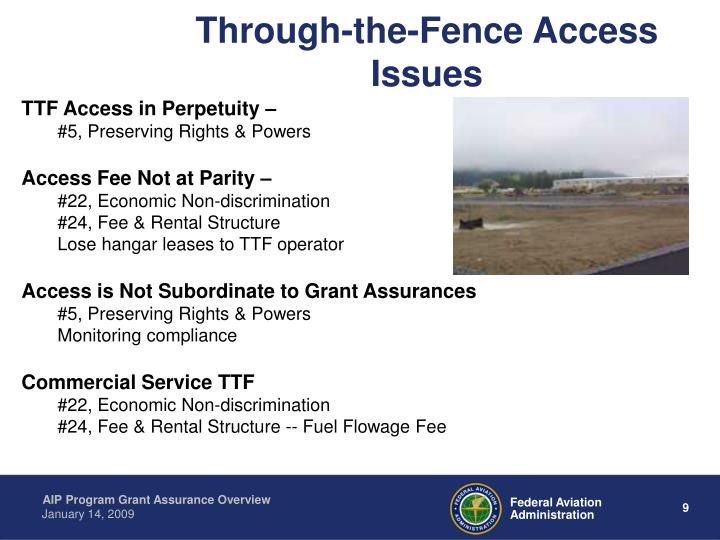 Through-the-Fence Access Issues