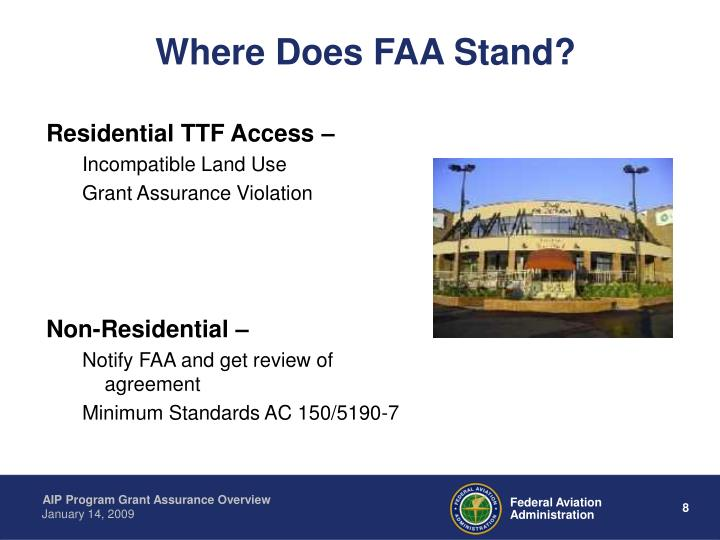 Where Does FAA Stand?