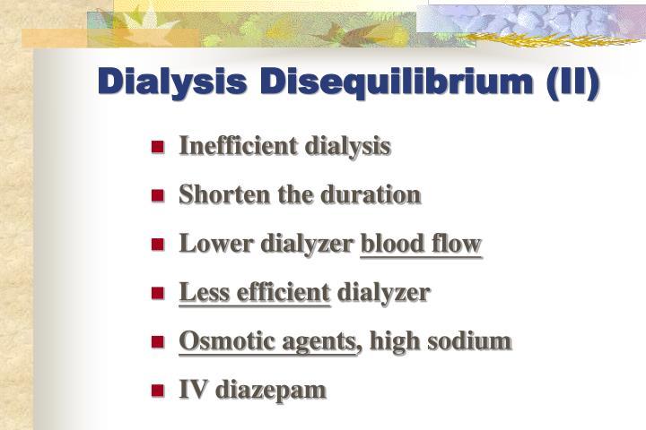 Dialysis Disequilibrium (II)