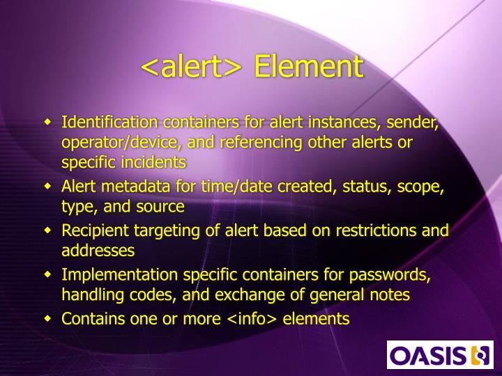 <alert> Element