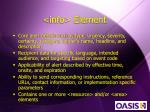 info element