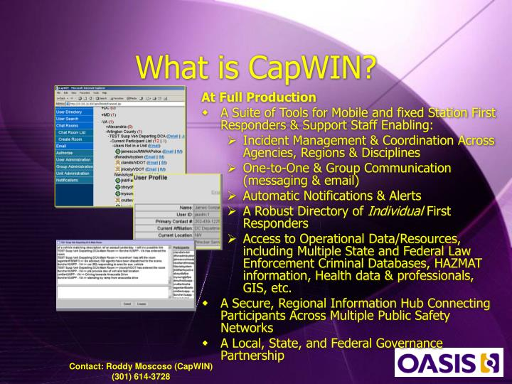 What is CapWIN?