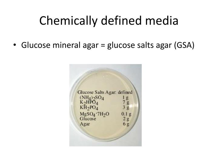 Chemically defined media