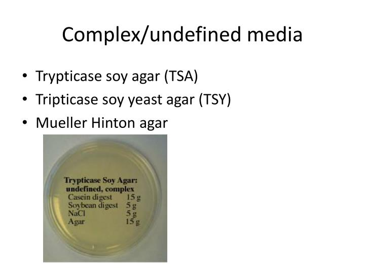 Complex/undefined media