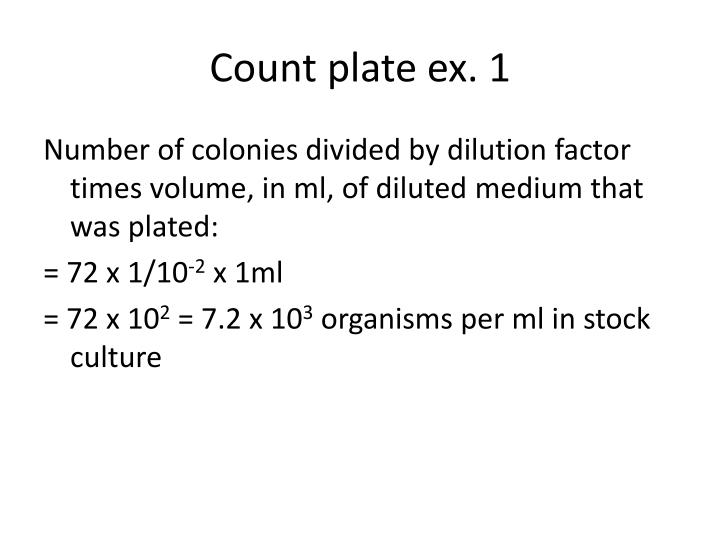 Count plate ex. 1
