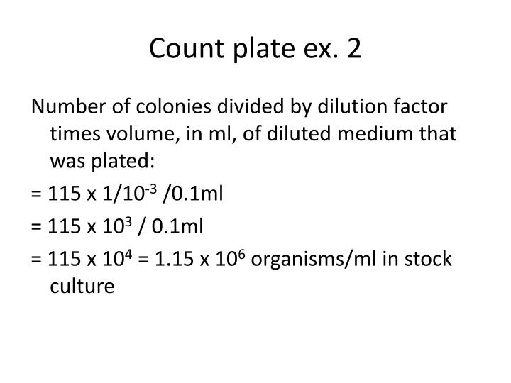 Count plate ex. 2