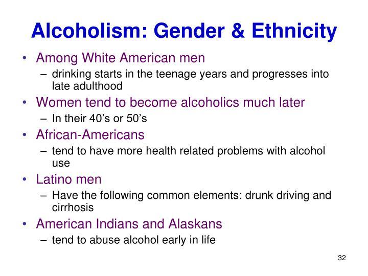 Alcoholism: Gender & Ethnicity