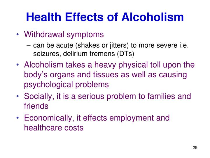 Health Effects of Alcoholism