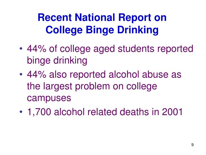 Recent National Report on