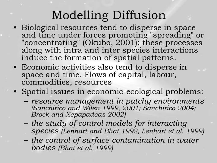 Modelling Diffusion