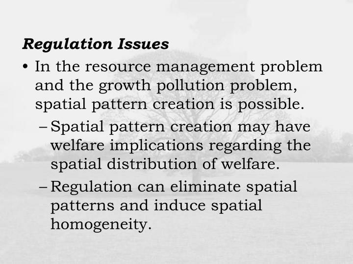 Regulation Issues