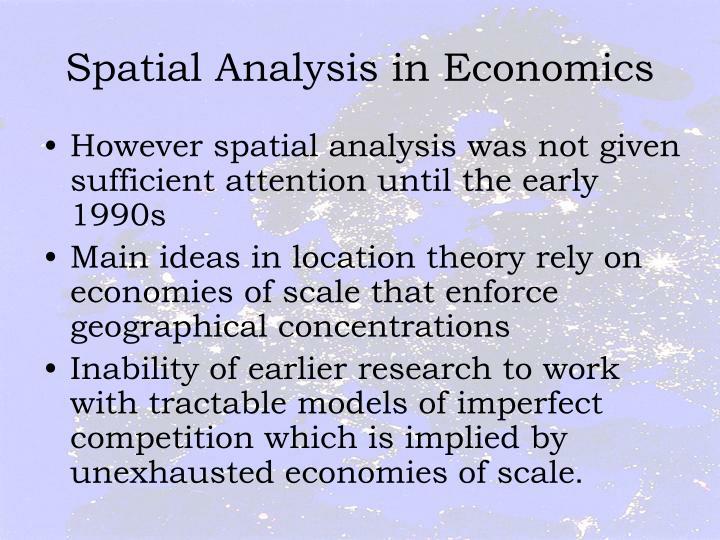 Spatial Analysis in Economics