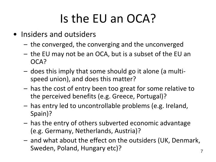 Is the EU an OCA?
